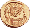 Ancients:Byzantine, Ancients: Justinian I the Great (AD 527-565). AV solidus (21mm,4.41 gm, 6h). ...