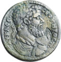 Ancients:Roman Provincial , Ancients: LYDIA. Hypaepa. Septimius Severus (AD 193-211). AEmedallion (36mm, 24.73 gm, 6h). ...