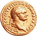 Ancients:Roman Imperial, Ancients: Domitian as Caesar (AD 69-81). AV aureus (19mm, 7.11 gm, 6h)....