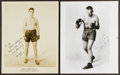 Boxing Collectibles:Autographs, Schmeling and Sharkey Signed Photographs Lot of 2....