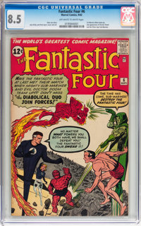 Fantastic Four #6 (Marvel, 1962) CGC VF+ 8.5 Off-white to white pages