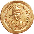 Ancients:Roman Imperial, Ancients: WEST ROMAN EMPIRE. Valentinian III (AD 425-455). AVsolidus (421mm, 4.53 gm, 6h). ...
