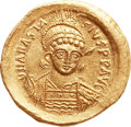 Ancients:Byzantine, Ancients: Anastasius (AD 498-518). AV solidus (22mm, 4.48 gm,6h). ...