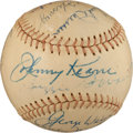 Baseball Collectibles:Balls, 1960's Major League Managers, Players and Executives Multi Signed Baseball (16 Signatures)....