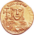 Ancients:Byzantine, Ancients: Nicephorus I and Stauracius (AD 802-811). AV solidus(21mm, 4.40 gm, 6h). ...
