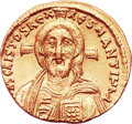 Ancients:Byzantine, Ancients: Justinian II (first reign, AD 685-695). AV solidus (20mm, 4.37 gm, 6h). ...