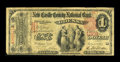 National Bank Notes:Delaware, Odessa, DE - $1 1875 Fr. 383 The New Castle County NB Ch. # 1281. ...