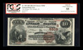 National Bank Notes:Alabama, Dothan, AL - $10 1882 Brown Back Fr. 490 The Dothan NB Ch. # (S)5909. ...