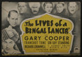 "Movie Posters:Adventure, The Lives of a Bengal Lancer (Paramount, 1935). Herald (4"" X 6"").Adventure. ..."