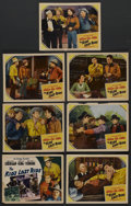 """Movie Posters:Western, The Kid's Last Ride (Monogram, 1941). Title Lobby Card and Lobby Cards (6) (11"""" X 14""""). Western. ... (Total: 7 Items)"""