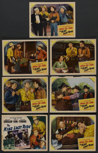 """The Kid's Last Ride (Monogram, 1941). Title Lobby Card and Lobby Cards (6) (11"""" X 14""""). Western. ... (Total: 7..."""