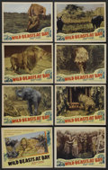 "Movie Posters:Documentary, Wild Beasts at Bay (Cosmopolitan, 1947). Lobby Card Set of 8 (11"" X 14""). Documentary...."