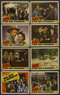 "Movie Posters:Western, Bad Man of Deadwood (Republic, 1941). Lobby Card Set of 8 (11"" X 14""). Western. ..."