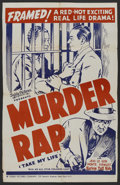 """Movie Posters:Black Films, Take My Life (aka Murder Rap) (Toddy Pictures, R- Late 1940s). OneSheet (27"""" X 42""""). Black Films. ..."""