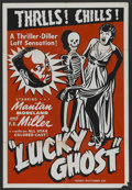 """Movie Posters:Black Films, Lucky Ghost (Toddy Pictures, R-Late 1940s). One Sheet (28"""" X 41"""").Black Films. ..."""