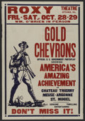 """Movie Posters:Documentary, Gold Chevrons (Sales New International Pictures, 1927). One Sheet (28"""" X 41""""). War Documentary. ..."""