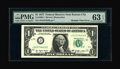 Error Notes:Major Errors, Fr. 1909-J $1 1977 Federal Reserve Note. PMG Choice Uncirculated 63EPQ....
