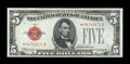 Fr. 1527* $5 1928B Legal Tender Star Note. Choice About Uncirculated