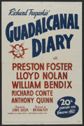 "Movie Posters:War, Guadalcanal Diary (20th Century Fox, R-1948). One Sheet (27"" X41""). War. ..."