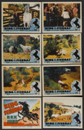 """Movie Posters:Western, King of the Sierras (Grand National, 1938). Lobby Card Set of 8 (11"""" X 14""""). Western. ... (Total: 8 Items)"""