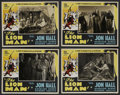 "Movie Posters:Adventure, The Lion Man (Normandy, 1936). Lobby Card Set of 4 (11"" X 14"").Adventure. ..."