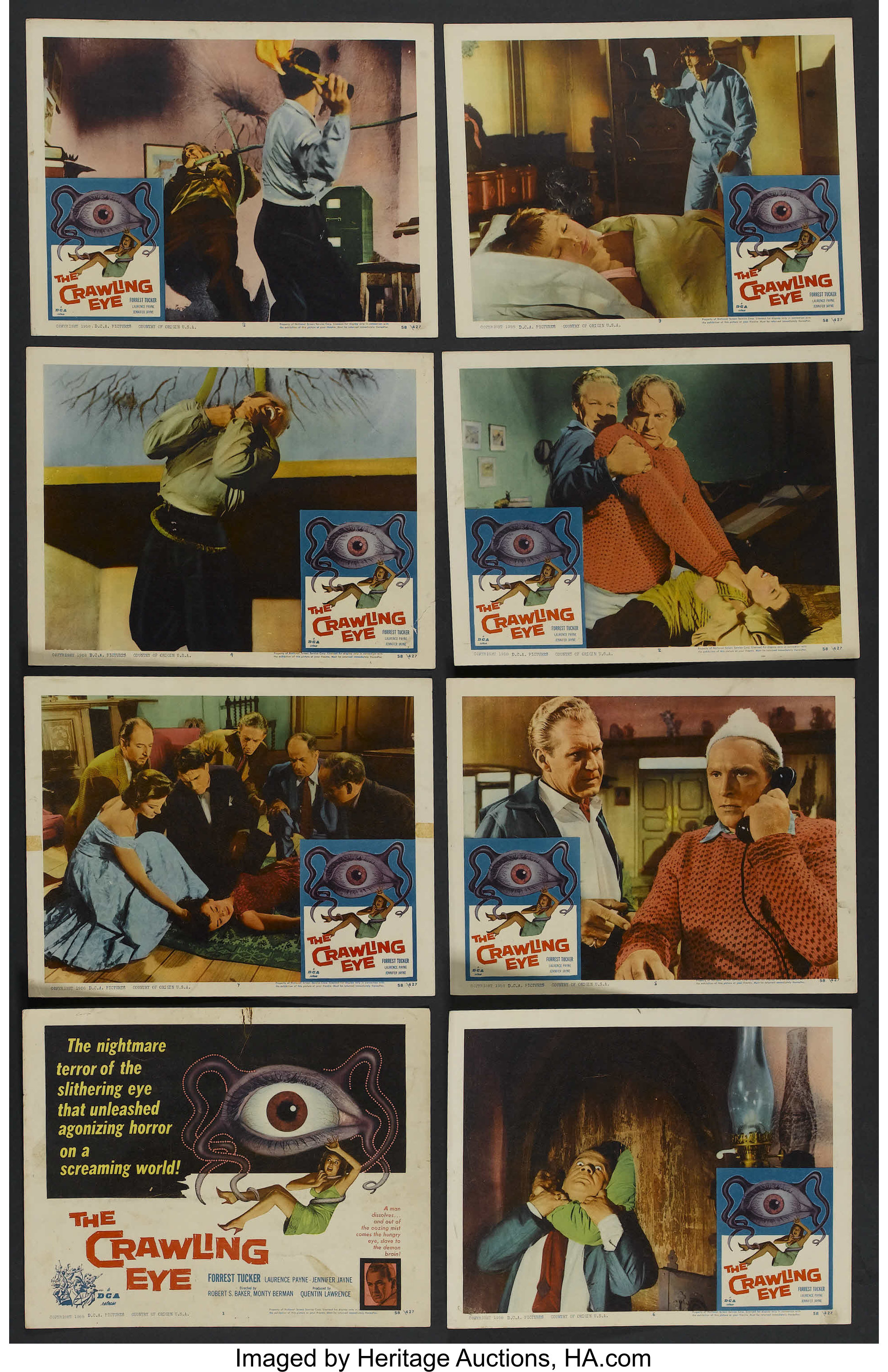 The Crawling Eye Lobby Card Movie Poster Forrest Tucker