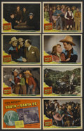 "Movie Posters:Western, South of Santa Fe (Republic, 1942). Lobby Card Set of 8 (11"" X 14""). Western. ..."