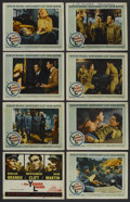"Movie Posters:War, The Young Lions (20th Century Fox, 1958). Lobby Card Set of 8 (11""X 14""). War. ..."