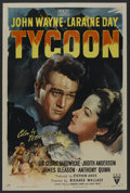"Movie Posters:Romance, Tycoon (RKO, 1947). One Sheet (27"" X 41""). Romance. ..."