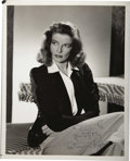 "Movie/TV Memorabilia:Autographs and Signed Items, Katharine Hepburn Signed Promo Photo. A vintage promo b&w 8"" x10"" portrait of Katharine Hepburn issued to promote the 1942 ...(Total: 1 Item)"