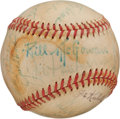Baseball Collectibles:Balls, Baseball Players Multi Signed Baseball Including Tough Hall of FameAutograph Bill McGowan. ...