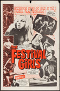 "Movie Posters:Sexploitation, The Festival Girls (Olympic International, 1962). One Sheet (27"" X41""). Sexploitation.. ..."