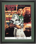 Football Collectibles:Others, Joe Namath Signed Stephen Holland Lithograph. ...