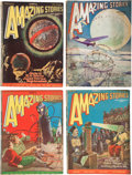 Pulps:Science Fiction, Amazing Stories Group (Ziff-Davis, 1928-32) Condition: AverageVG-.... (Total: 5 Items)