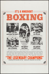 "The Legendary Champions (Big Fights, 1968). One Sheet (27"" X 41""). Sports"