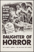 "Movie Posters:Horror, Dementia (Jack Harris, R-1957). One Sheet (27"" X 41"") AKA Daughter of Horror. Horror.. ..."