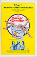 "Movie Posters:Sexploitation, The Swingin' Stewardesses (Hemisphere Pictures, 1972). One Sheet(27"" X 41""). Sexploitation.. ..."