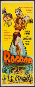 "Movie Posters:Adventure, Bagdad (Universal International, R-1956). Insert (14"" X 36"").Adventure.. ..."