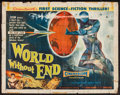 "Movie Posters:Science Fiction, World Without End (Allied Artists, 1956). Half Sheet (22"" X 28"") Style B. Science Fiction.. ..."