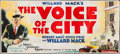 "Movie Posters:Crime, The Voice of the City (MGM, 1929). 24 Sheet (104"" X 232""). Crime....."
