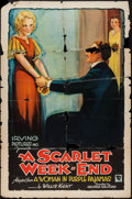 "Movie Posters:Mystery, A Scarlet Week-End (Irving Pictures, 1932). One Sheet (27"" X 41""). Mystery.. ..."