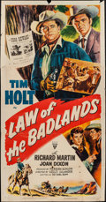 """Movie Posters:Western, Law of the Badlands & Others Lot (RKO, 1951). Three Sheets (5) (41"""" X 78""""), One Sheet (27"""" X 41""""), Six Sheets (2) (78"""" X 78""""... (Total: 8 Items)"""