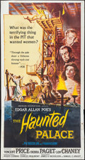 "Movie Posters:Horror, The Haunted Palace (American International, 1963). Three Sheet (41""X 78""). Horror.. ..."
