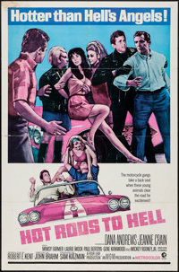 """Hot Rods to Hell (MGM, 1967). One Sheet (27"""" X 41""""). Exploitation"""