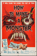 "Movie Posters:Horror, How to Make a Monster (American International, 1958). One Sheet (27"" X 41""). Horror.. ..."