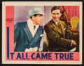 "Movie Posters:Crime, It All Came True (Warner Brothers, 1940). Lobby Card (11"" X 14"").Crime.. ..."