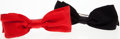 Luxury Accessories:Accessories, Chanel Black and Red Satin Hair Bows. ... (Total: 2 Items)