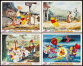 "Movie Posters:Animation, The Many Adventures of Winnie the Pooh (Buena Vista, R-1977). LobbyCards (4) (11"" X 14""). Animation.. ... (Total: 4 Item)"