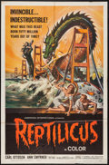 "Movie Posters:Science Fiction, Reptilicus (American International, 1961). One Sheet (27"" X 41"").Science Fiction.. ..."