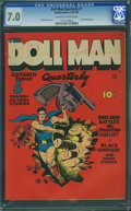 Golden Age (1938-1955):Superhero, Doll Man Quarterly #1 (Quality, 1941) CGC FN/VF 7.0 Off-white to white pages.